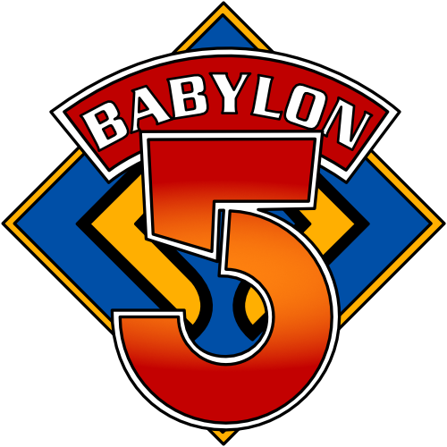 A parody B5 logo based on the classic Doctor Who diamond.