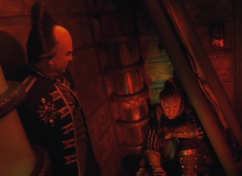Londo and G'Kar in the elevator