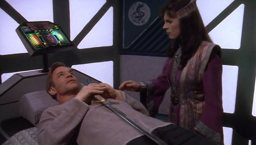 "Delenn visits a catatonic ""Arthur"""