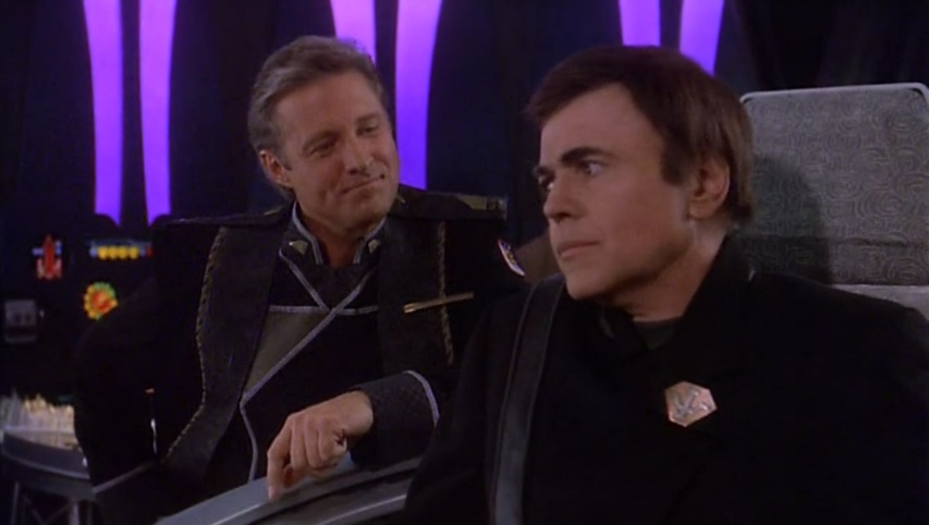 Sheridan takes offense at Bester taking his chair on the White Star.