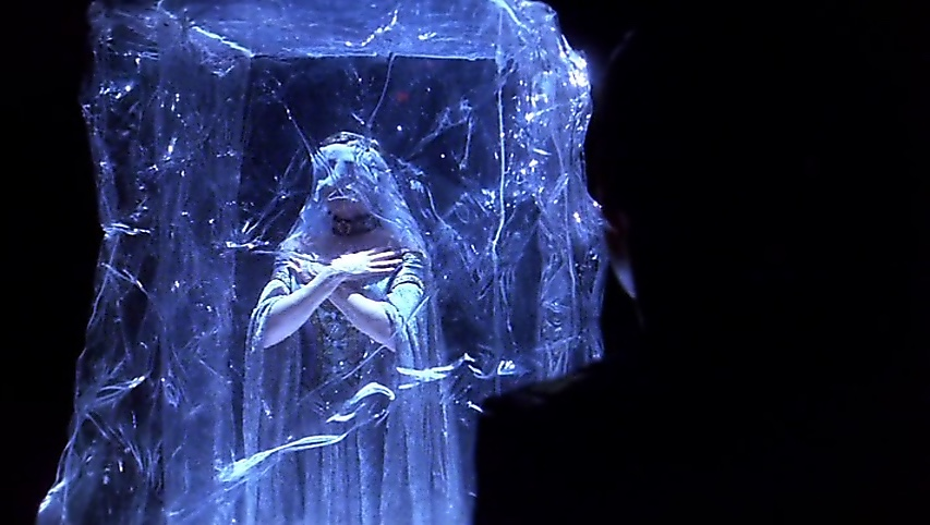 The Vorlons visualized as a woman frozen in ice